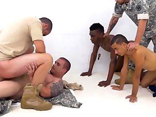 Military guy first blowjob gay time R&amp_R, the Army69 way