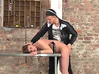 Dominated twink loves it when his anal hole is banged